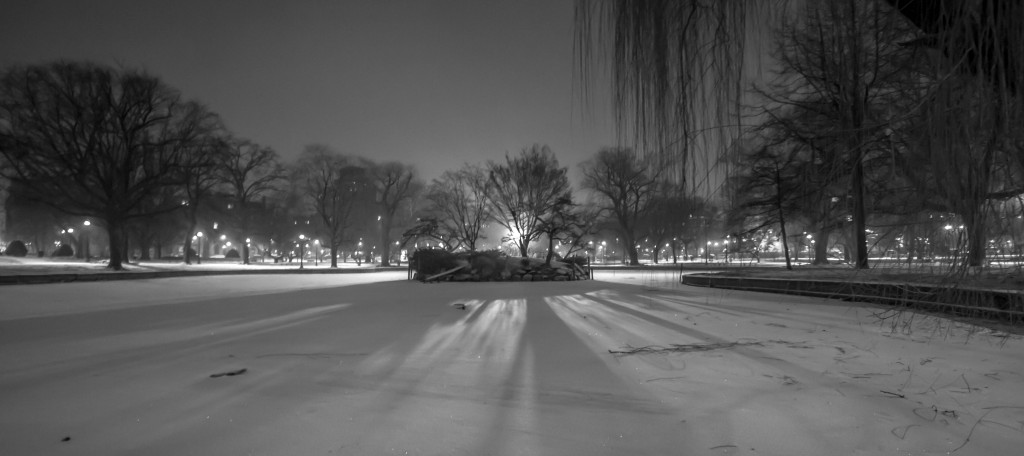 Boston Public Garden Snow