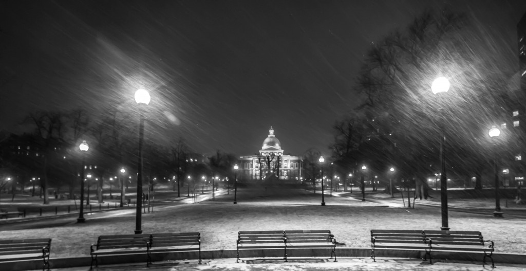 Snowy Boston State House