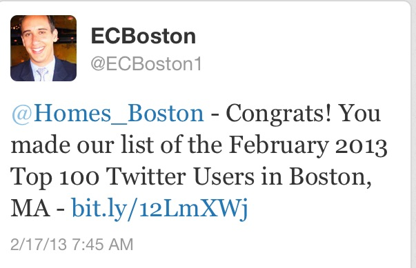 Top Twitter Users Boston