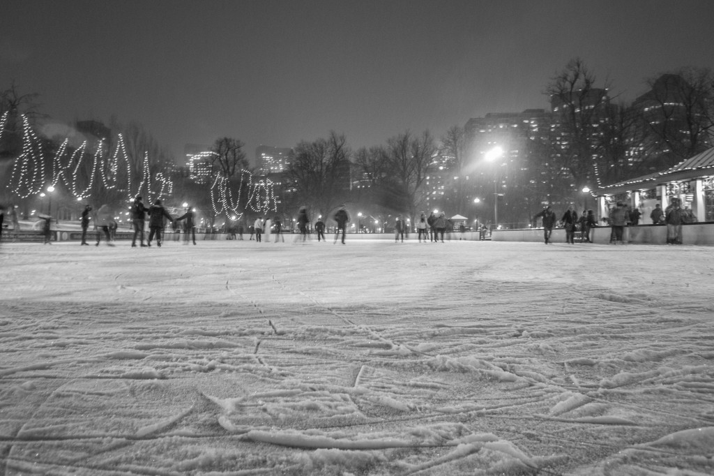 Ice Skating on the Frog Pond