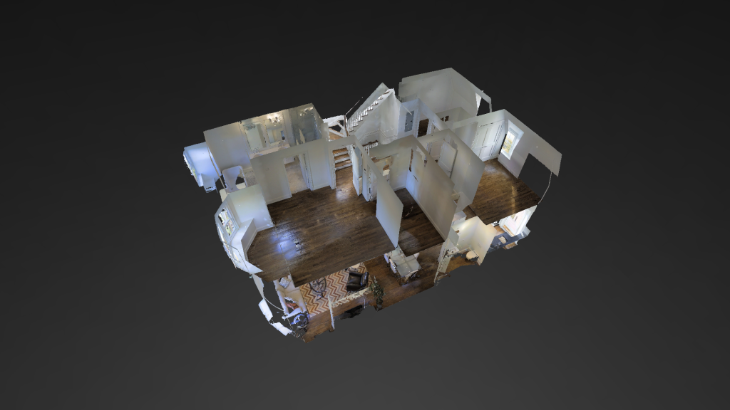 MAtterport rentering of Duplex in South End